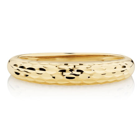 Dome Stacker Ring in 10ct Yellow Gold