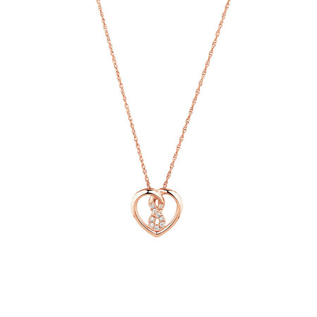 Mini Infinitas Pendant with Diamonds in 10ct Rose Gold