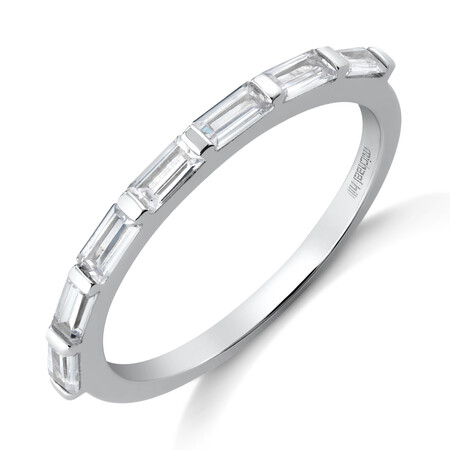 Rectangle Fashion Ring with Cubic Zirconia in Sterling Silver