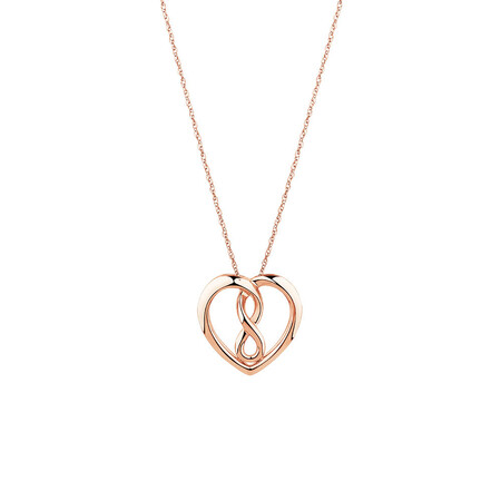Small Infinitas Pendant in 10ct Rose Gold