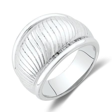 Swirl Ring in Sterling Silver