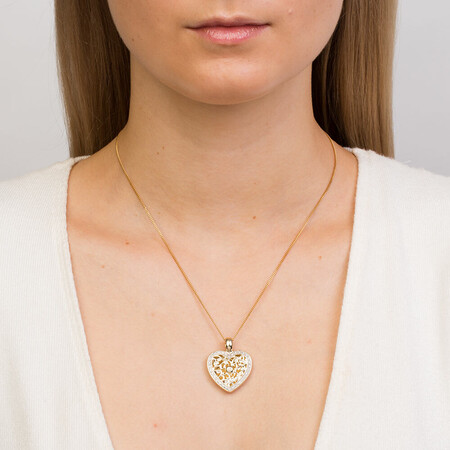 Enhancer Pendant with 0.30 Carat TW of Diamonds in 10ct Yellow Gold