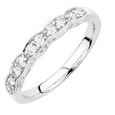 Wedding Band with 0.33 Carat TW of Diamonds in 10ct White Gold