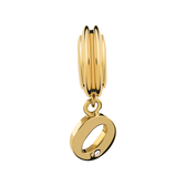 Diamond Set & 10ct Yellow Gold 'O' Charm
