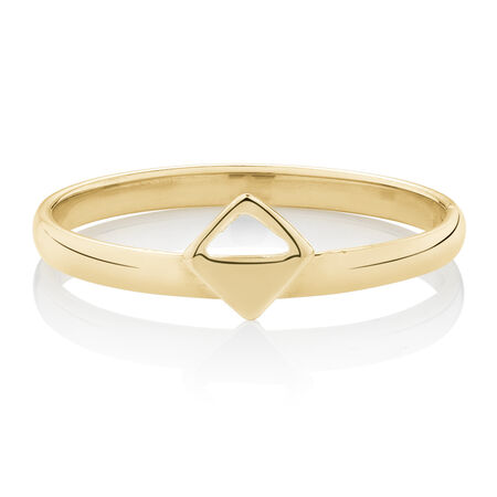 Square Geometric Ring in 10ct Yellow Gold