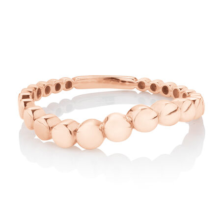 Ball Ring in 10ct Rose Gold