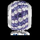 Purple & White Crystal Charm