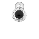 Onyx & Sterling Silver Filigree Stopper