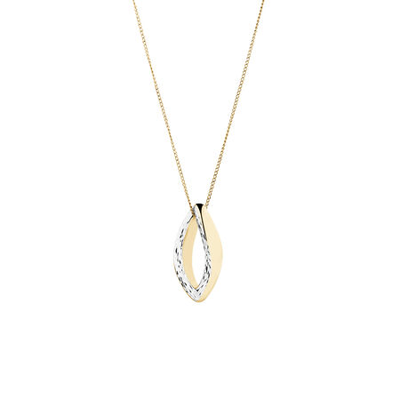 Two Tone Electroformed Pendant in 14ct Yellow & White Gold