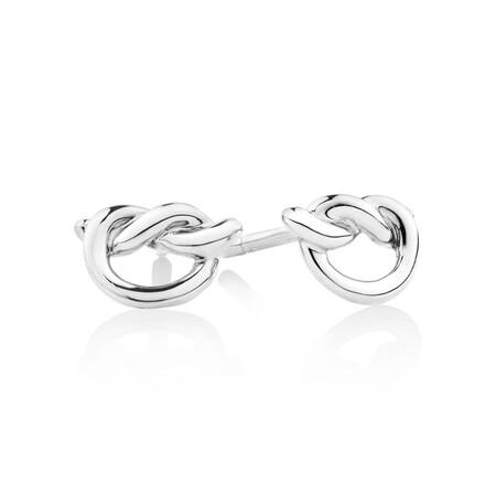 Knot Stud Earrings in Sterling Silver