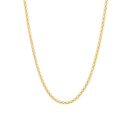 """45cm (18"""") Fancy Double Link Chain in 18ct Yellow Gold"""