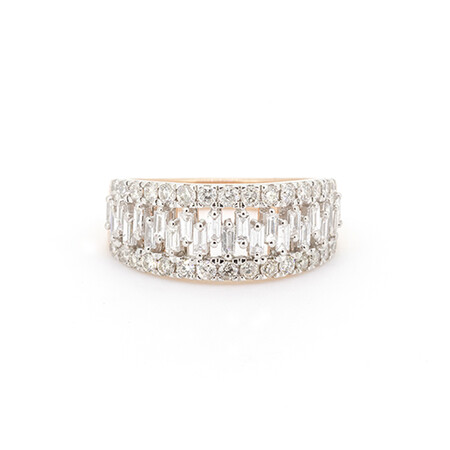 Ring with 1.20 Carat TW of Diamonds in 10ct Rose Gold