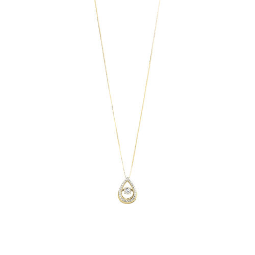 Everlight Pendant with 0.17 Carat TW of Diamonds in 10ct Yellow Gold