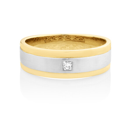 Diamond Ring set in 10ct Yellow and White Gold