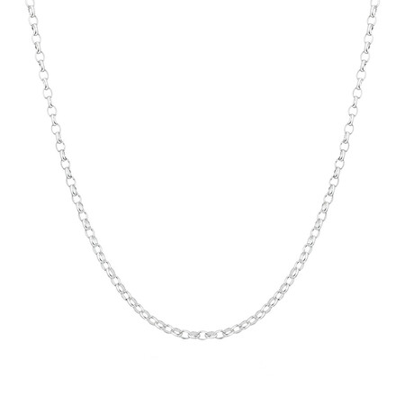 "45cm (18"") Diamond Cut Belcher Chain in 18ct White Gold"