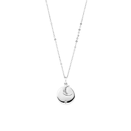 Moon Necklace in Sterling Silver