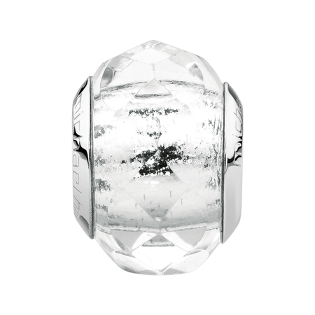 Clear Faceted Glass Charm