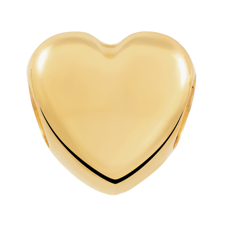10ct Yellow Gold Heart Charm