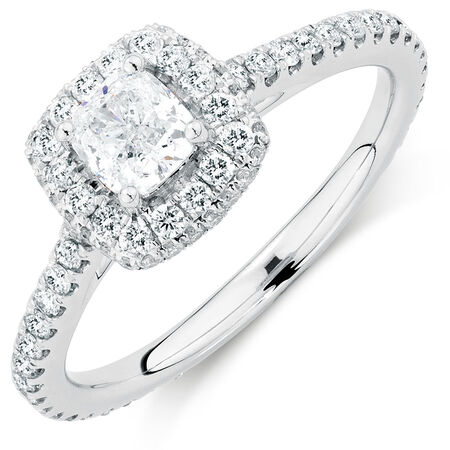 Sir Michael Hill Designer GrandAllegro Engagement Ring with 1.15 Carat TW of Diamonds in 14ct White Gold