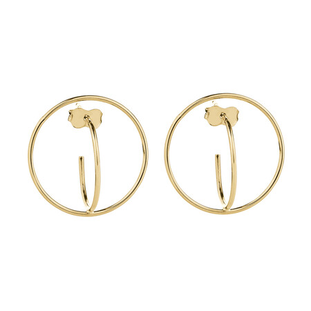 Circle Stud Earrings in 10ct Yellow Gold