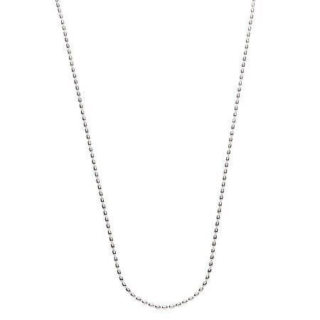 """80cm (32"""") Rice Chain in Sterling Silver"""