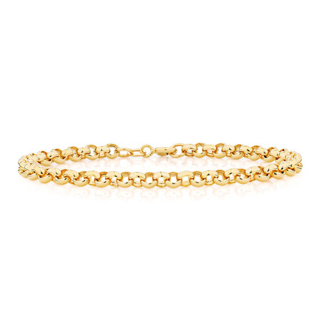 "19cm (7.5"") Belcher Bracelet in 10ct Yellow Gold"