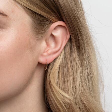 14mm Sleeper Earrings in 10ct Rose Gold