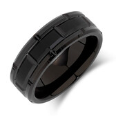 Men's Ring in Black Tungsten