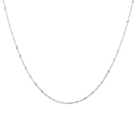 "40cm (16"") Cable Chain in 10ct White Gold"
