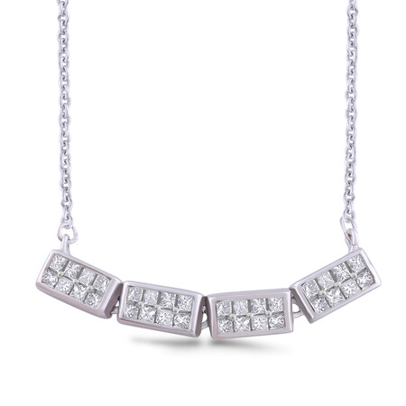 Necklace with 0.22 Carat TW of Diamonds in Sterling Silver
