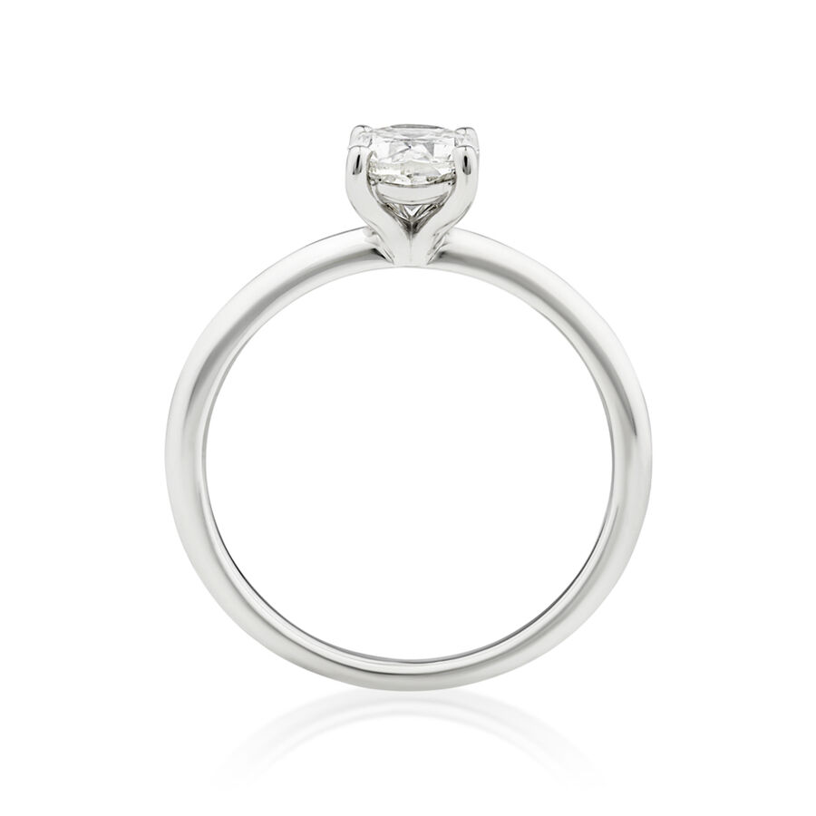 Solitaire Engagement Ring with 1 Carat TW of Diamond in 14ct White Gold
