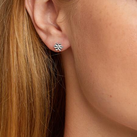 Flower Stud Earrings in Sterling Silver