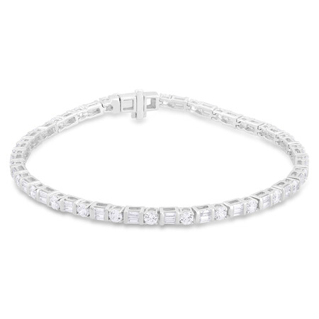 Bracelet with 3.50 Carat TW of Diamonds in 14ct White Gold