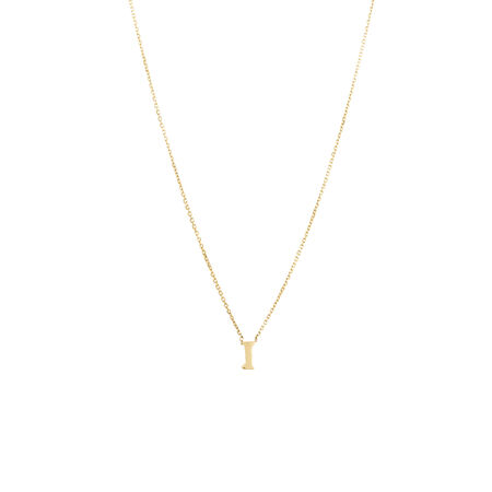 """""""I"""" Initial Pendant in 10ct Yellow Gold"""
