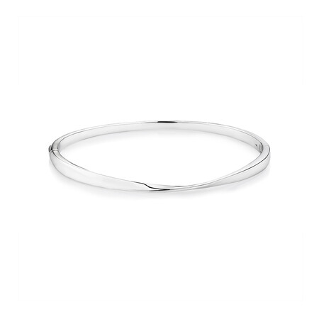 Polished Twist Bangle in Sterling Silver
