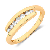 Ring with 1/4 Carat TW of Diamonds in 10ct Yellow Gold