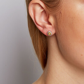Stud Earrings with 0.30 Carat TW of Diamonds in 10ct White Gold