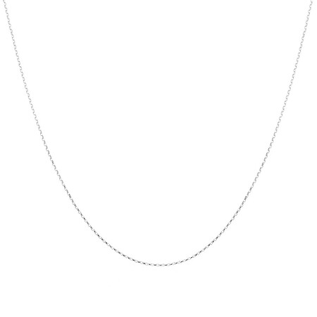 "60cm (24"") Hollow Belcher Chain in 10ct White Gold"