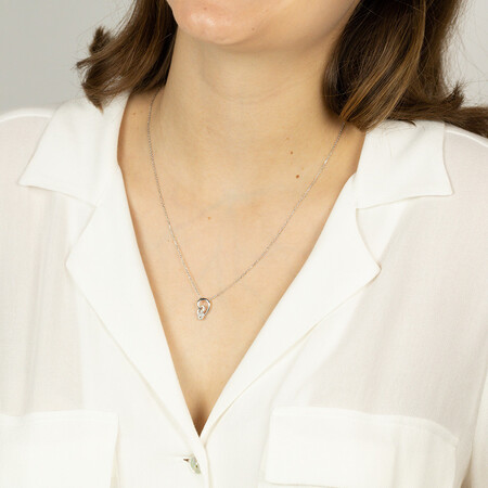 Mini Knots Necklace with 0.12 Carat TW of Diamonds in Sterling Silver
