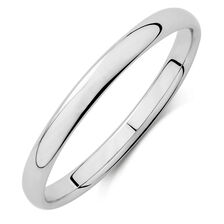 Wedding Band in 18ct White Gold