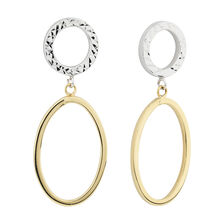 Online Exclusive - Oval Drop Earrings in 10ct Yellow & White Gold