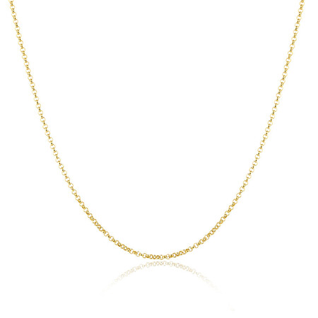 "80cm (32"") Hollow Belcher Chain in 10ct Yellow Gold"