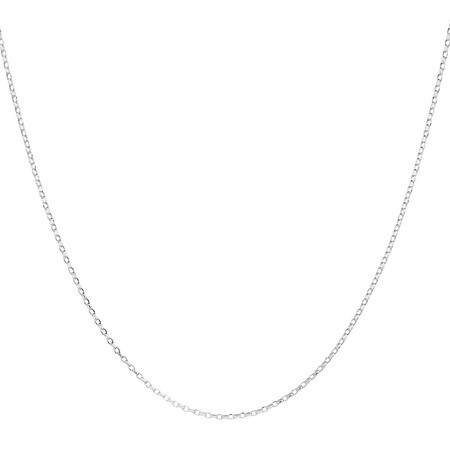 "50cm (20"") Hollow Belcher Chain in 10ct White Gold"