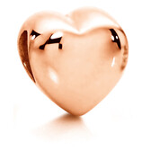 10ct Rose Gold Heart Charm