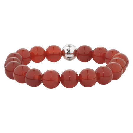 Online Exclusive - Bracelet with Red Agate In Sterling Silver