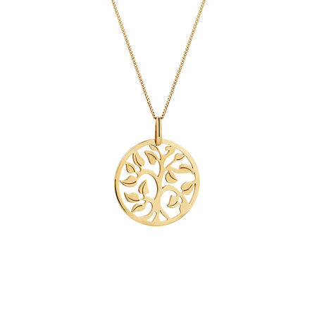 Tree of Life Pendant in 10ct Yellow Gold