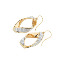 Online Exclusive - Twisted Glitter Hoop Earrings in 10ct Yellow Gold