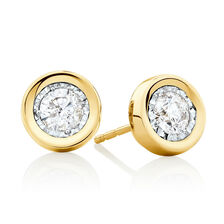 Stud Earrings with 1/2 Carat TW of Diamonds in 10ct Yellow Gold