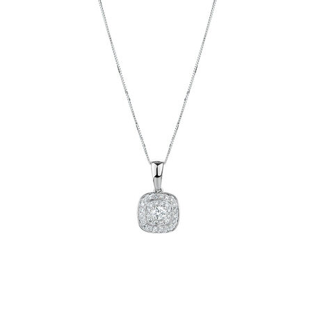 Whitefire Pendant with 0.34 Carat TW of Diamonds in 18ct White Gold & 22ct Yellow Gold
