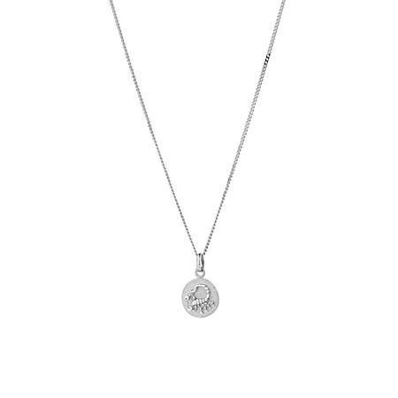 8mm Zodiac Pendant in Sterling Silver